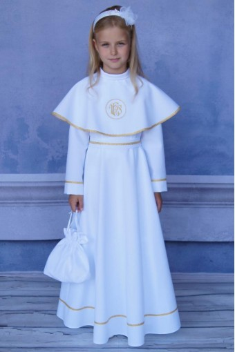 Sukienka komunijna z pelerynką SA-42