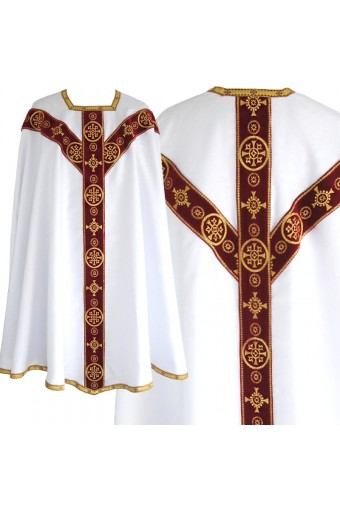 White Conical chasuble 6